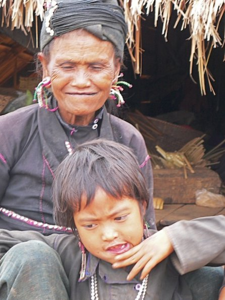 Eng grandmother and child, Shan State, Burma